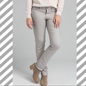 Prana Kara Skinny Light Gray Jeans Size 6